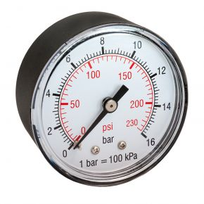 "Pressure gauge 1/4"" rear connection"