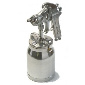 """Professional Paint spray gun 1.7 mm nozzle 3.1-4.8 bar 225-335 l/min 1/4"""" with stopper"""