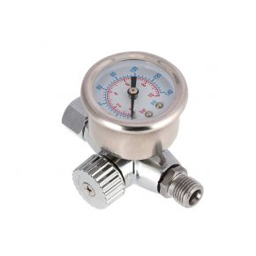 Reducer with pressure gauge for spray guns 0-10 bar I05