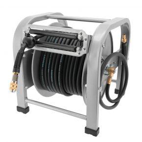 Air hose reel 8 x 14 mm self rolling floor model 30 m