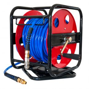 "Air Hose Reel 30 m 8 x 12 mm 1/4"" on rotating foundation"