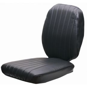 Seat cover 2-pieces fabric black GS12