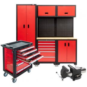 Cabinet, cart and vice for workshop (Plug & Play)
