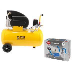 Compressor 8LC50-2.0 VRB 8 bar 2 hp 200 l/min 50 l Plug & Play