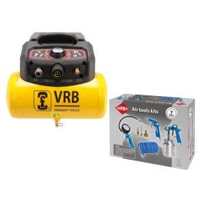 Compressor LC6-1.5 VRB 8 bar 1.5 hp/1.1 kW 129 l/min 6 l Plug & Play