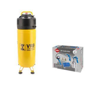 Compressor LCV50-2.0 VRB 10 bar 2 hp/1.5 kW 166 l/min 50 l Plug & Play