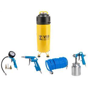 Compressor 8LCV50-2.0 VRB 10 bar 2 hp 166 l/min 50 l Plug & Play