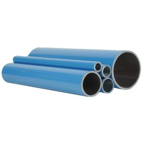 Aluminium compressed air pipe 50 x 2 mm 6 m