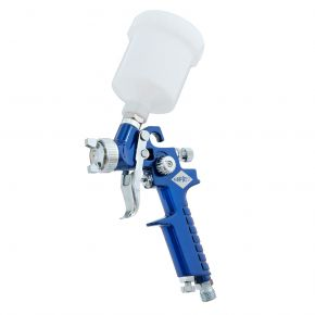 Mini Paint spray pistol HVLP 2 bar 0.8 mm nozzle 125 ml cup