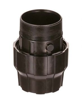 "Aluminium sleeve coupling/nipple 32 mm 1 1/4"" male"