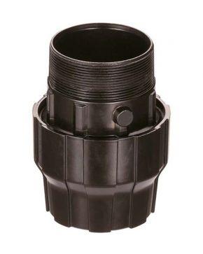 "Aluminium sleeve coupling/nipple 40 mm 1 1/2"" male"