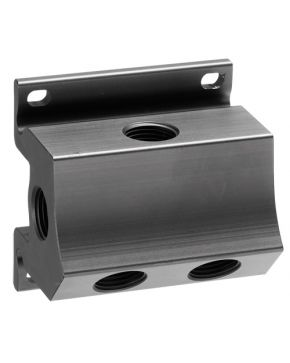 "Wall mount manifold 4 outlets 1/2"" with drain 1/4"""