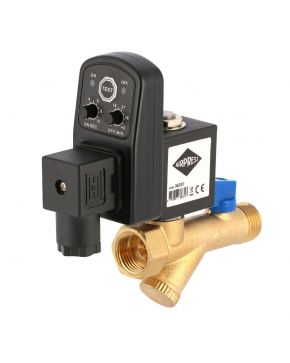 """Automatic condensation drain timer dirt filter 1/2"""""""