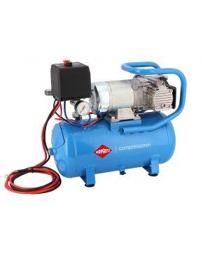 12V Silent Oil free Compressor DC 12-180/15 10 bar 0.75 hp 144 l/min 15 l