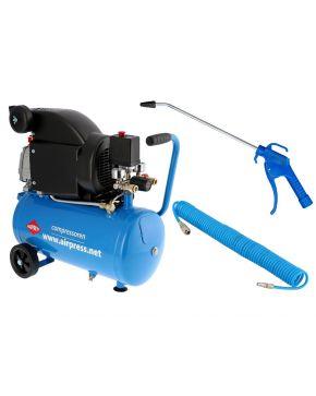Compressor HL 310-25 8 bar 2 hp 130 l/min 24 l Plug & Play combideal
