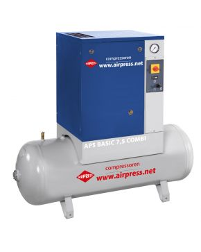 Screw Compressor APS 7.5 Basic Combi 10 bar 7.5 hp 600 l/min 200 l