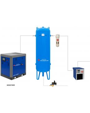 Compressed air treatment set APS 7.5 X IVR / 300 / 9