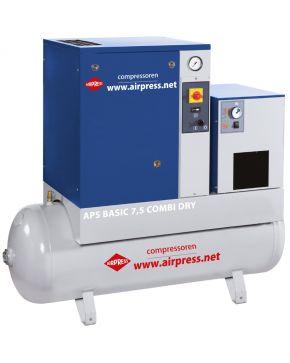 Screw Compressor APS 7.5 Basic Combi Dry 10 bar 7.5 hp 600 l/min 200 l