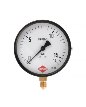 "Pressure gauge 1/4"" 16 bar under connection 100 mm"
