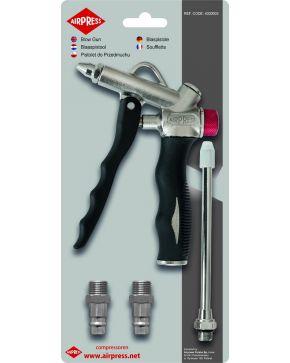 Air blow gun with Pressure control head
