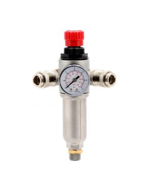 "Pressure reducing valve 3/8"" 10 bar with 2 quick couplings universal"