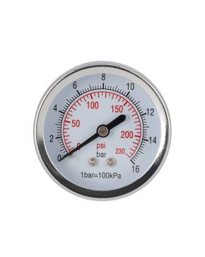 "Pressure gauge 1/4"" 16 bar rear connection 40 mm"