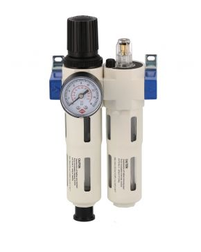 "Oil-/Waterseperator Pressure reducing valve and Oil Lubricator 1/4"" 15 bar"