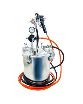 Paint spray unit 5.5 bar 2 mm nozzle 8.5 l cup