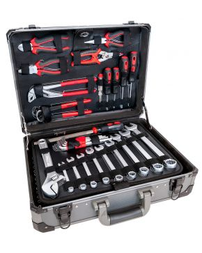 Aluminium Chrome Vanadium tool case 127 parts