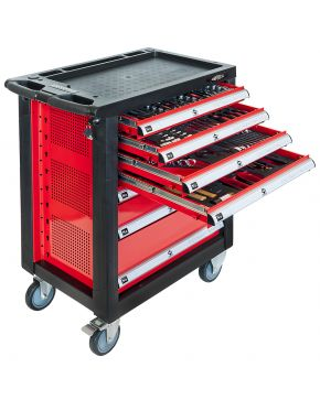 Tools trolley 217 tools 7 drawers
