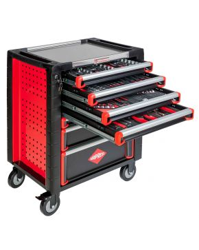 Tool trolley 217 tools 7 drawers