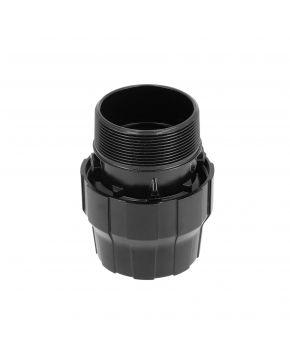 "Aluminium sleeve coupling/nipple 20 mm 3/4"" male"