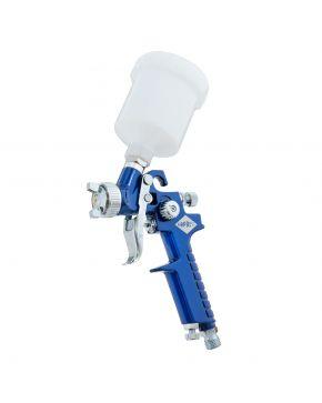 Mini Paint spray pistol HVLP 2 bar 0.8 mm nozzle 125 ml cup