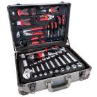 Aluminium Chrome Vanadium tool case 127 parts