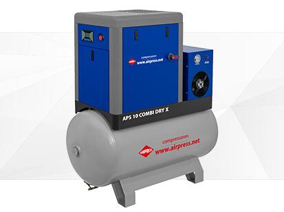 Screw compressor APS X 10 Combi Dry