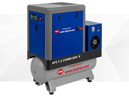 Screw compressor APS X 7-5 Combi Dry